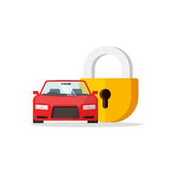 Car lock flat cartoon vector