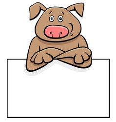 cartoon dog with board or card vector image