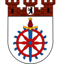 Coat of arms weissensee in pankow of berlin vector