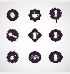 coffee logo design icon set vector image