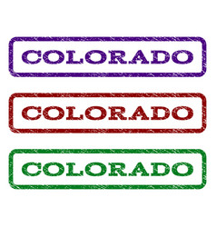 colorado watermark stamp vector image