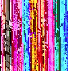 Colored abstract glitch art design background vector