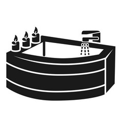 corner bath icon simple style vector image