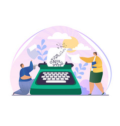 Creative writer ask publisher for promotion vector
