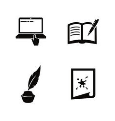 creative writing storytelling simple related icons vector image