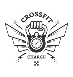 CrossFit workouts for a while vector image