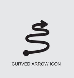 Curved arrow icon vector