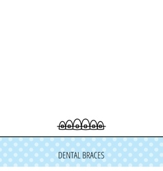 Dental braces icon Teeth healthcare sign vector