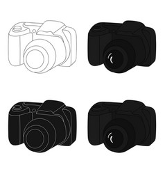 digital camera icon in cartoon style isolated on vector image