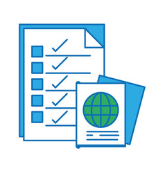 Documents paper information with passport id vector