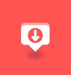 down arrow icon symbol vector image