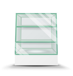 Empty glass cabinet isolated on transparent vector