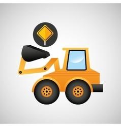 excavator wheeled machinery vector image