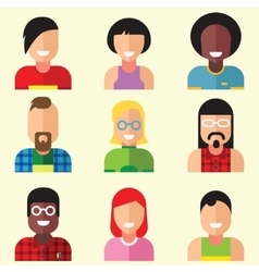 Face trendy flat vector image