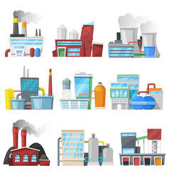 factory industrial building or manufacture vector image