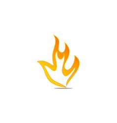 fire logo design template vector image