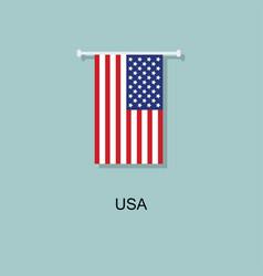 flag usa abstract flat design icon vector image