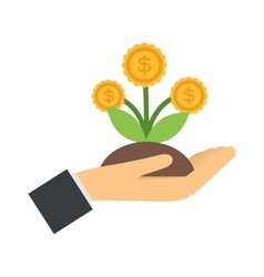 flat icons design money flower dollar sign vector image