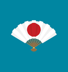 flat japan fan icon vector image