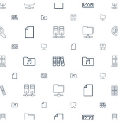 folder icons pattern seamless white background vector image