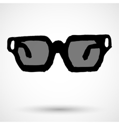 Glasses grunge Icon vector image