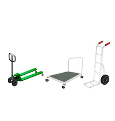 Hand Truck Dolly and Pallet Truck vector