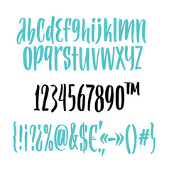 handwritten script font brush font vector image