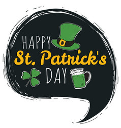 happy saint patricks day logotype vector image