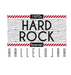 Hard rock hallelujah forever vector