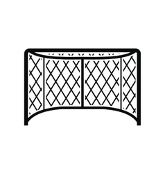 Hockey gates black simple icon vector