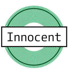 Innocent stamp on white background vector