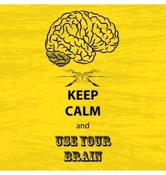 Keep calm and brain vector