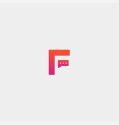 Letter f chat logo template design vector