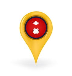 Location Nepal vector image