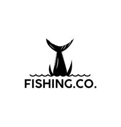 logo fishing black vector image