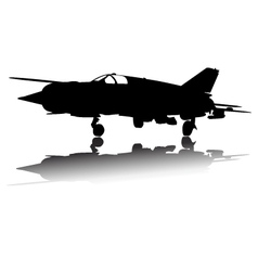 Military Airplane Silhouette vector image