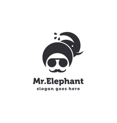 mister elephant logo icon template vector image