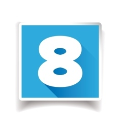 Number eight label or number icon vector image