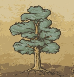 Oak tree sketch vector