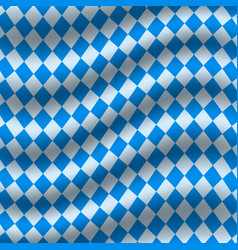 oktoberfest blue checkered flag background vector image