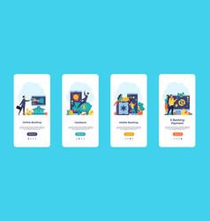 online banking mobile app finance application ui vector image