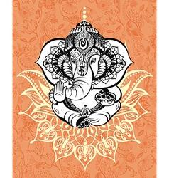 Ornament God Ganesha vector image