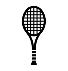 Outline beautiful tennis racket icon vector