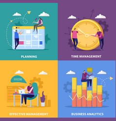 Perfect management design concept vector