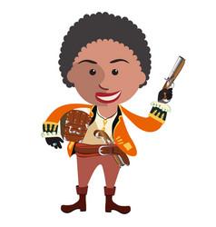 Pirate boy pirate brave vector