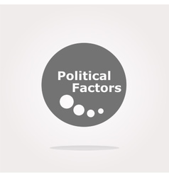 political factors web button icon isolated vector image
