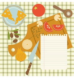 Recipe vector image