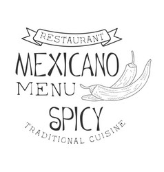 Restaurant traditional quisine mexican food menu vector