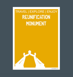 reunification monument yaound cameroon monument vector image