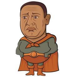 sad superhero vector image